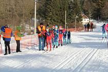 Lyžařská pohádka to byla loni v Caparticích při konání tradičních závodů. Dočkají se sněhové nadílky lyžaři i letos?