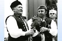 JAROMÍR HORÁK (vlevo) o Chodských slavnostech s Antonínem Konrádym.