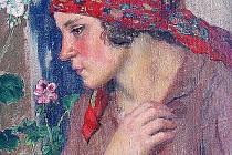 Děvče z Chodska takto namaloval Karel Špillar.