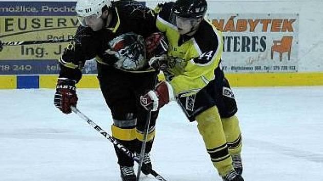 Z minulého utkání hokejistů HC Pirates a HC HP Sršni.