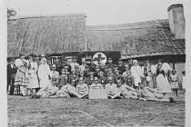 Upomínka na okrskové cvičení, které se konalo ve Staněticích 2 .6.1929 na dvoře čp. 8.