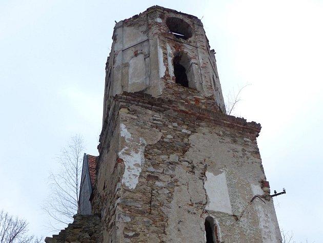 KOSTEL SVATÉHO MIKULÁŠE VŠITBOŘI.  Kostelní věž nyní.