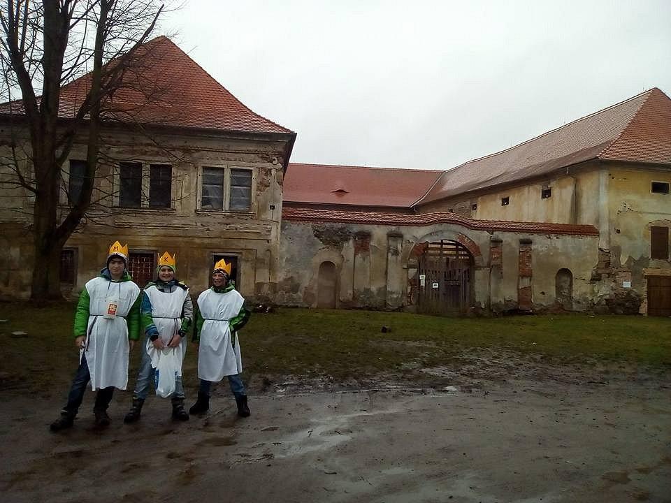 Tříkrálová sbírka na Staňkovsku.