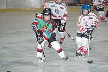 Z utkání mladých hokejistů HC Domažlice.