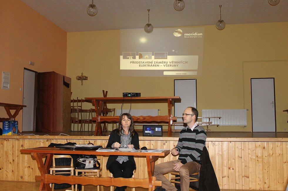 Veřejná diskuze se uskutečnila v pátek 10. ledna ve Všerubech.