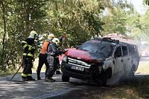 Z požáru na poli mezi Stráží a Pasečnicí.
