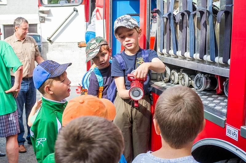 Otevření opravené hasičárny v Koutě na Šumavě.