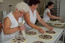 Příprava bořických koláčů.