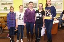 VÍTĚZNÝ TÝM. Pětice reprezentantů domažlické ZŠ Msgre B. Staška vybojovala vítězství v kategorii družstev.