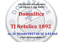 Pozvánka na zápas volejbalistů Domažlic s Netolicemi.