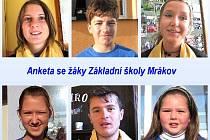 Anketa s žáky mrákovské školy.