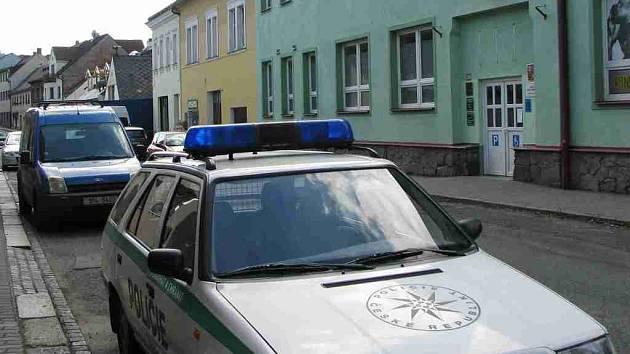 Situace v Komenského ulici ve Kdyni.