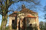 Kostel svaté Barbory u Všekar.