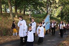 Nedělní mše svatá na Vavřinečku. Celebroval ji plzeňský biskup Tomáš Holub.