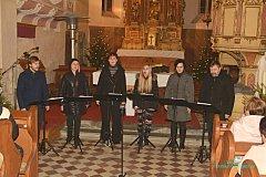Singtet uzavřel adventní program na Poběžovicku.