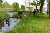 Den s řekou v Bělé nad Radbuzou.