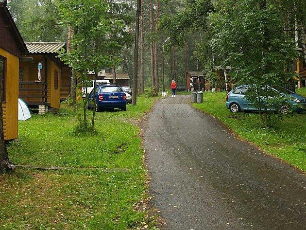 Autokemp Hájovna pod Korábem u Kdyně.
