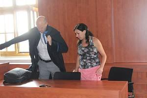Obžalovaná Kateřina Blacká (vpravo) už zná rozsudek.
