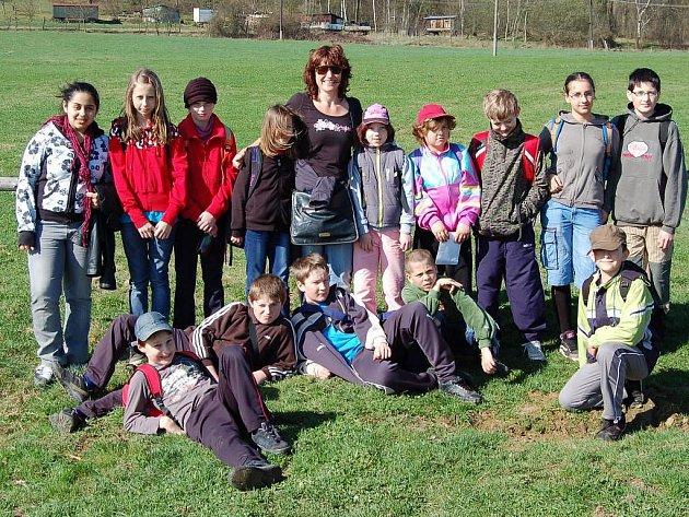 Poběžovičtí školáci se učili v přírodě.