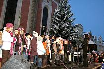 Rozsvícení vánočního stromu v Domažlicích.