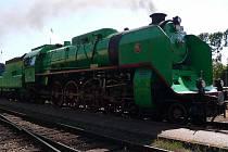 Průjezd Winton Trainu nádražím v Domažlicích.