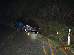 Takto skončil řidič, který měl přes 2 promile alkoholu.