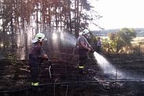 Ze zásahu hasičů 5. srpna u Jivjan.