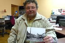 FRANTIŠEK ŠVEHLA nám přinesl ukázat dobovou fotografii bělského pivovaru.