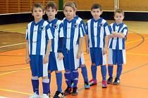Malí fotbalisté domažlické Jiskry na turnaji.