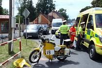 Nehoda motocyklu U Všech Svatých.