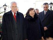 Z návštěvy prezidenta Václava Klause v Trhanově.