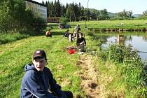 Bělský rybník hostil okresní kolo soutěže Zlatá udice.