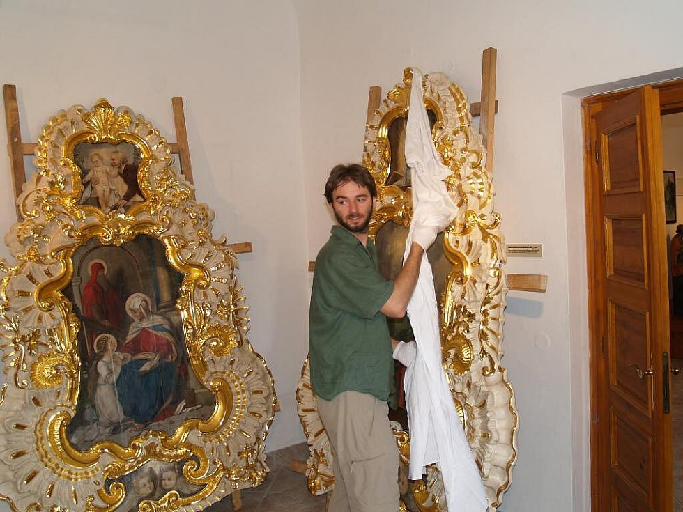 Chotiměřský oltář v Muzeu Chodska v Domažlicích.