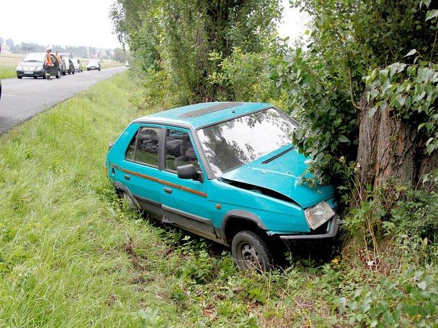 Dopravní nehoda mezi Poběžovicemi a Mnichovem.