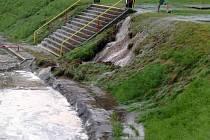 Kdyni zasáhl přívalový déšť. Nejhůře dopadlo koupaliště Hájovna.