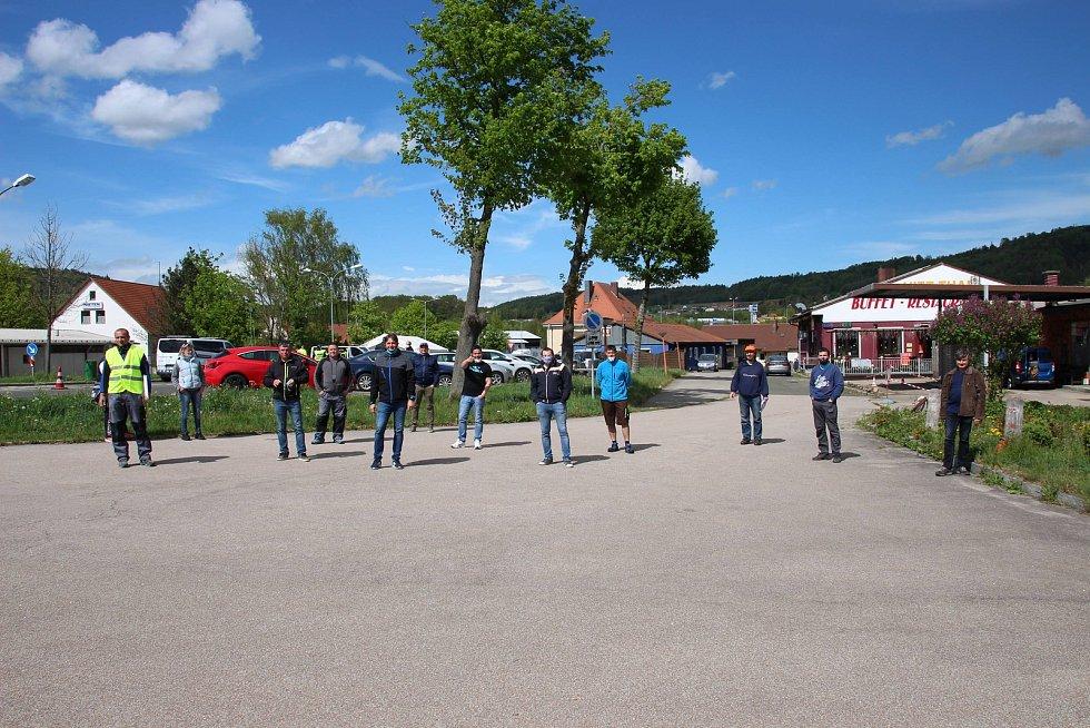 Petiční akce pendlerů v Schafbergu. Foto: Karl Reitmeier