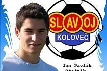 Jan Pavlík, útočník Slavoje Koloveč.