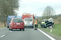Sobotní dopolední nehoda u Semošic.