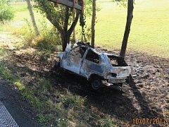 Dopravní nehoda mladé dívky u Draženova.