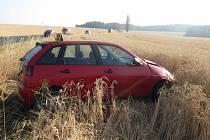 Nehoda u odbočky na Třebnice.