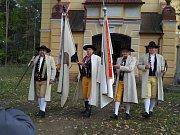 Ze svěcení chodského praporu na Dobré Vodě u Draženova.