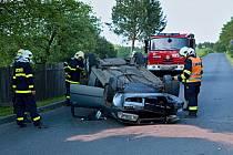 Dopravní nehoda v Trhanově.