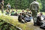 Vojenský tábor v Caparticích.