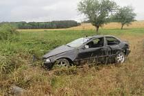 Řidič havaroval u Zámělíče
