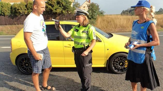 Celorepublikové akce se zúčastnily i Domažlice. Všichni kontrolovaní řidiči byli ukáznění.