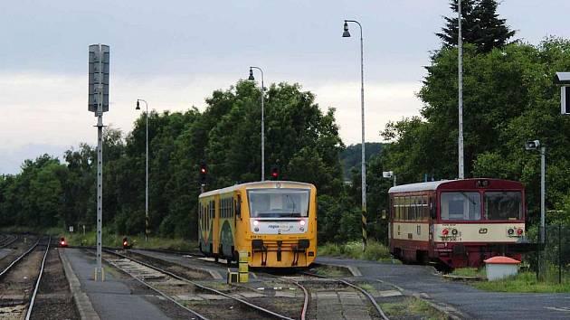 Vlakové nádraží.  Ilustrační foto.
