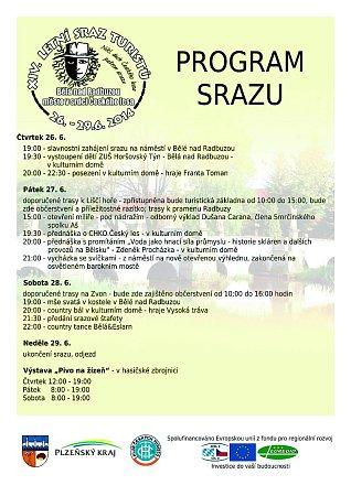 Program srazu vBělé nad Radbuzou.