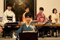 Koncert japonské hudby v horšovskotýnském zámku.