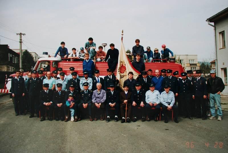 Nejvíce historických snímků je spojených s tamějším sborem dobrovolných hasičů. Snímek pochází z roku 1998.