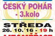Pozvánka na pohárový duel Jiskry s prvoligovými Litoměřicemi.